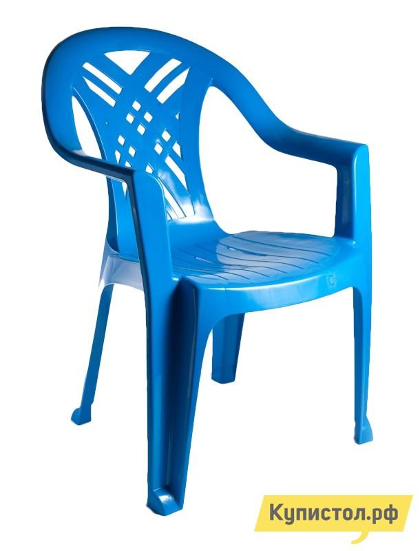 "Пластиковый стул Стандарт Пластик Кресло №6 ""Престиж-2"" (660x600x840мм) Синий от Купистол"