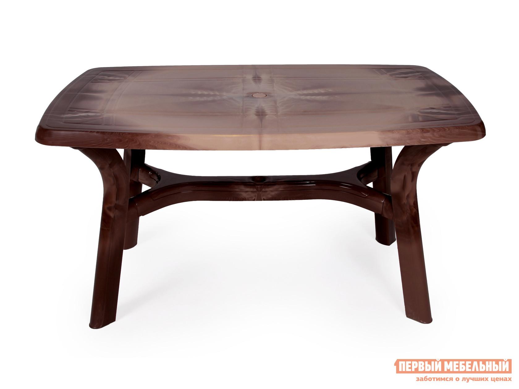 Пластиковый стол Стандарт Пластик Групп Стол прямоугольный «Премиум» ЛЕССИР 1400x850x728 мм подоконник пластиковый стандарт 300х3000 мм белый