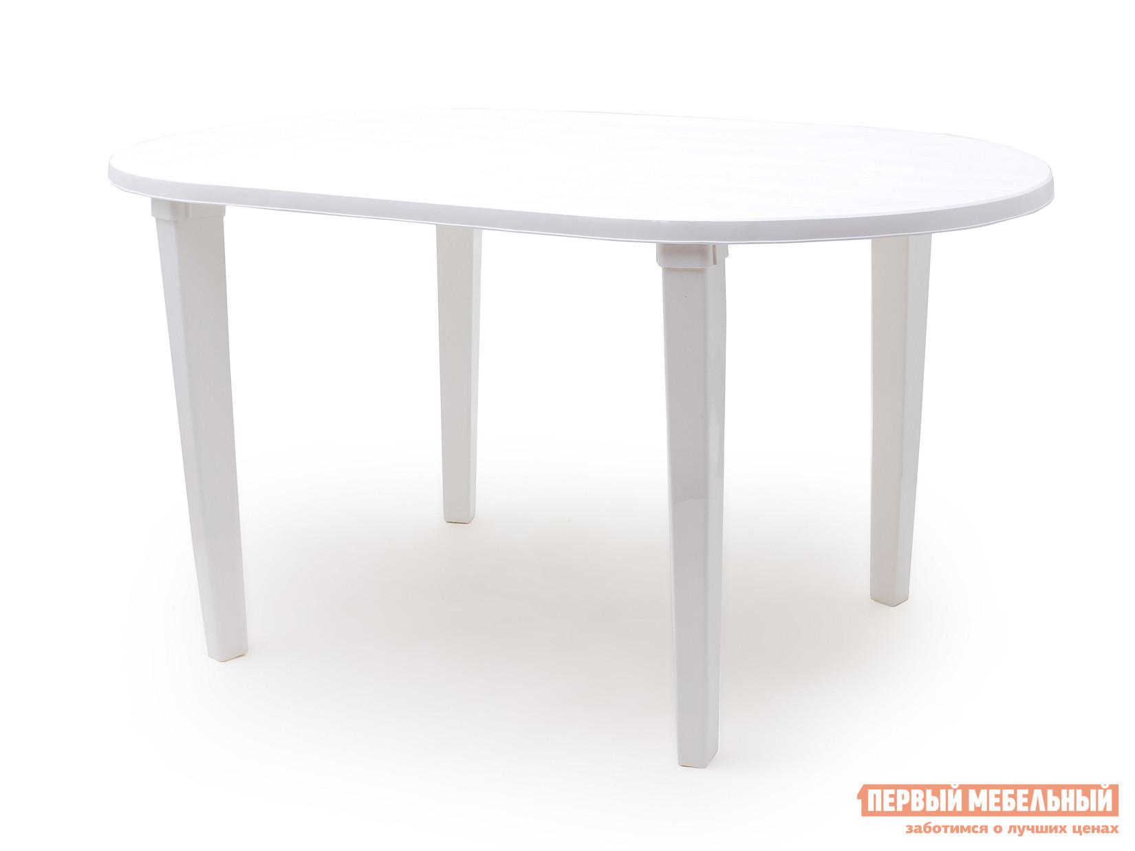 Пластиковый стол Стандарт Пластик Стол овальный (1400х800х710) мм Белый