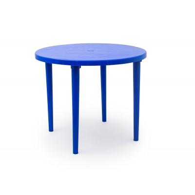 Пластиковый стол Стандарт Пластик Стол круглый, д. 900 мм Синий