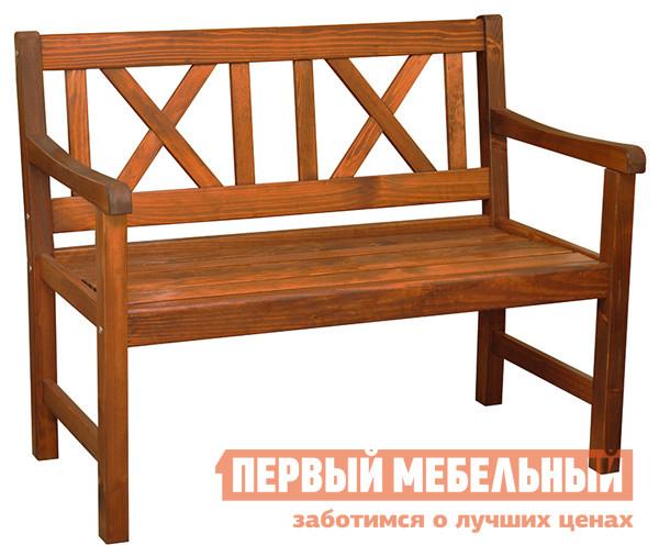 Садовая скамейка из дерева со спинкой Шведская линия 172033 Скамейка Linda 2x