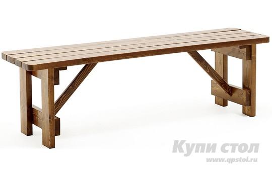 Деревянная скамейка 905022 КупиСтол.Ru