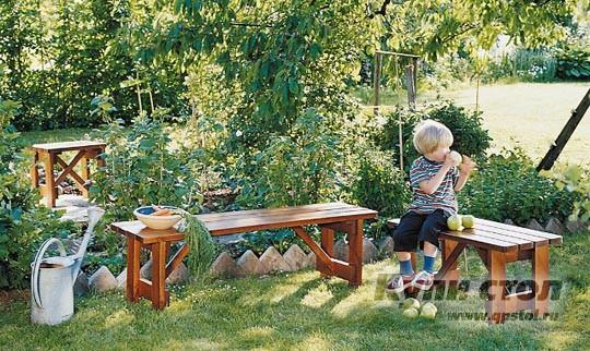 Деревянная скамейка 905022