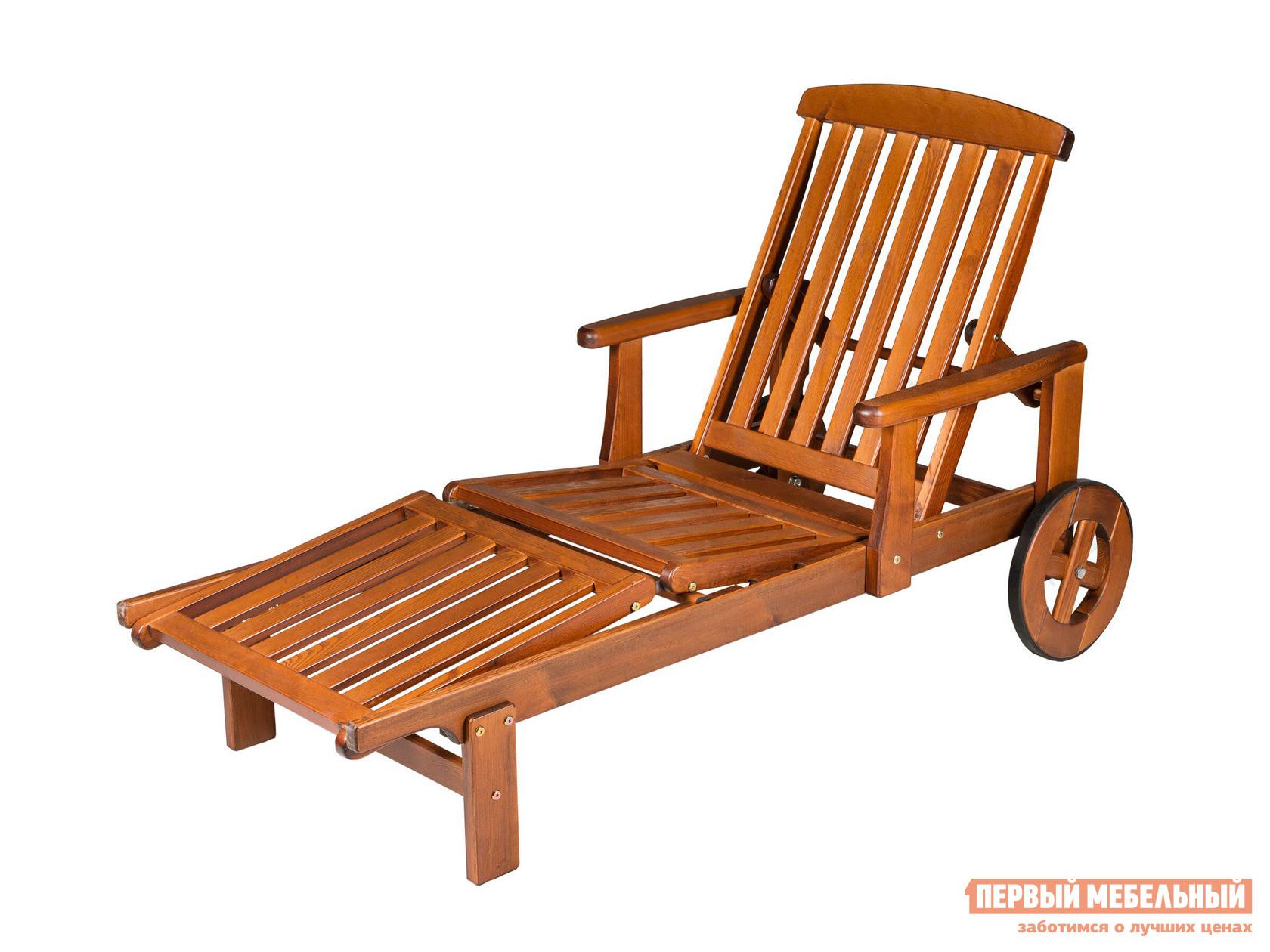 Пляжный лежак из дерева на колесах Шведская линия 705022 Regina пляжный лежак пластиковый отдых с комфортом лежак agua