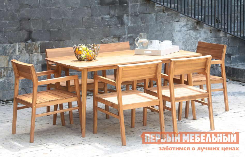 Комплект садовой мебели Шведская линия 0424 Стол Andorra + 0289 Кресло Andorra, 6 шт.