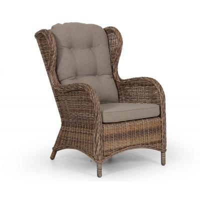 Плетеное кресло Brafab Evita 5641-62 Ротанг коричневый, Без подушки