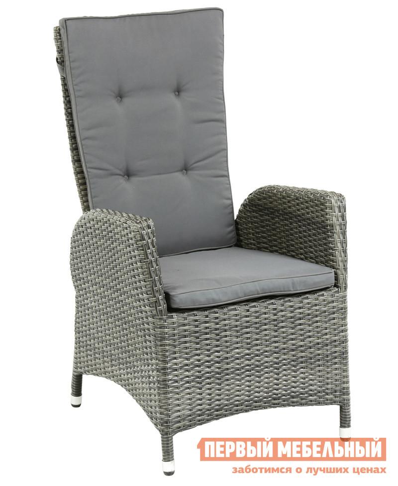 Плетеное садовое раскладное кресло Шведская линия 0271-73-71 Кресло-реклайнер Menorca