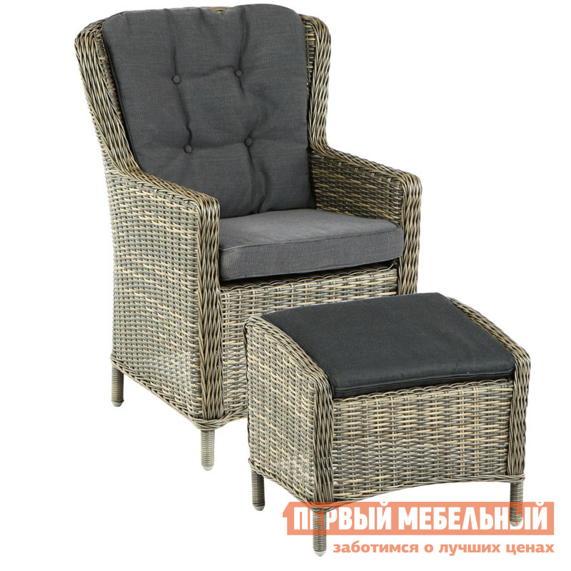 Плетеное кресло Шведская линия 4600-7-74 Плетеное кресло Marina коврик самонадувающийся trek planet active 38 цвет синий 183 х 51 х 3 8 см