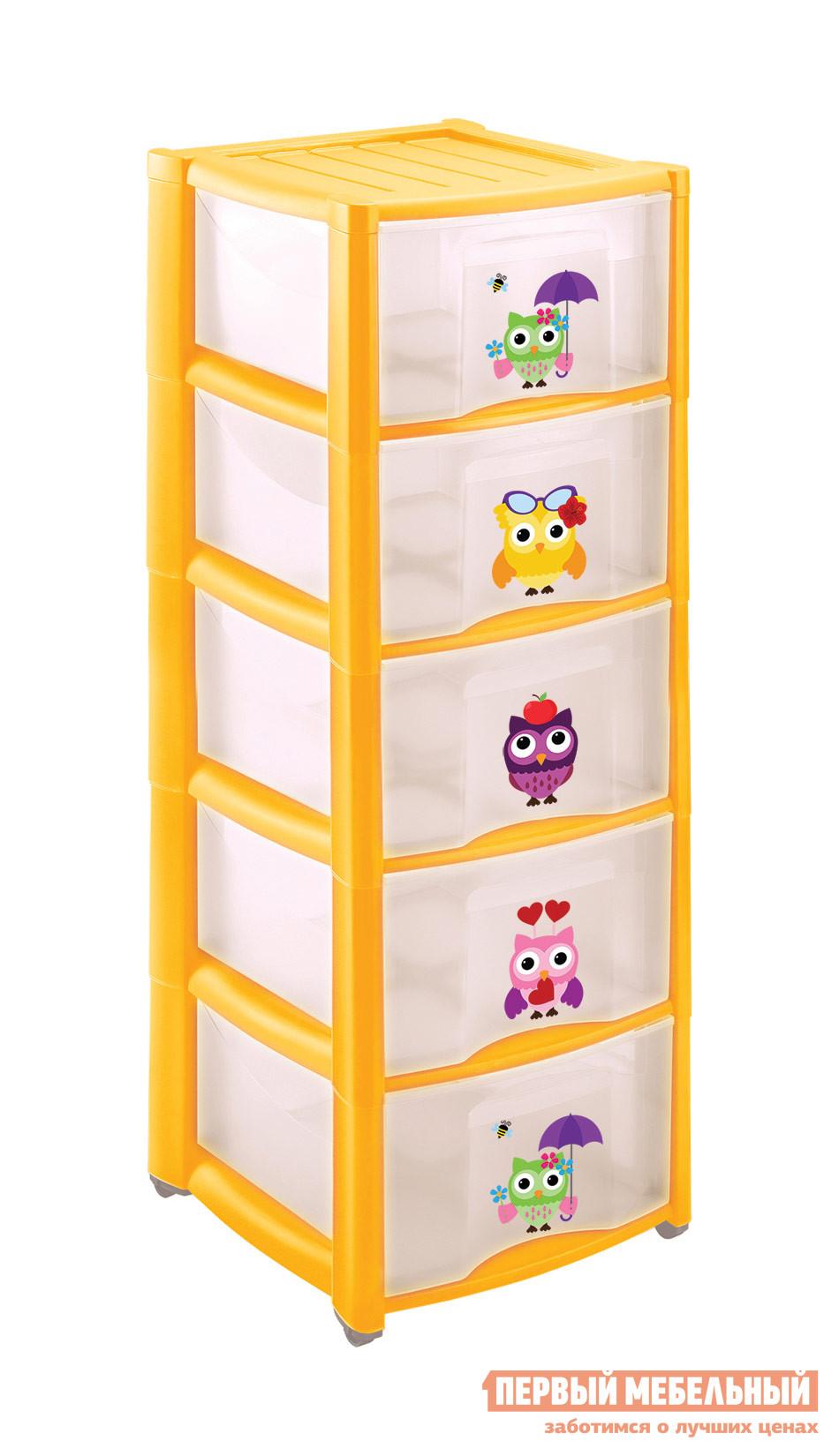 Комод детский Пластишка 4313429 ЖелтыйДетские комоды<br>Габаритные размеры ВхШхГ 970x390x370 мм. Практичный пластиковый комод с пятью ящиками.  Фасады декорированы яркими рисунками и сюжетами, которые понравятся как детям, так и их родителям.  Глубокие ящики вместят в себя и вещи ребенка, и многочисленные игрушки.  Комод можно использовать во время игр и научить малыша самому наводить порядок в своих вещах.  Изделие дополнено колесиками для легкого перемещения в пространстве. Изделие производится из полипропилена.<br><br>Цвет: Желтый<br>Цвет: Желтый<br>Высота мм: 970<br>Ширина мм: 390<br>Глубина мм: 370<br>Кол-во упаковок: 1<br>Форма поставки: В разобранном виде<br>Срок гарантии: 1 год<br>Назначение: Для игрушек<br>Материал: Пластиковые<br>Размер: Узкие<br>Особенности: С ящиками, На колесиках, с 5-ю ящиками, С рисунком