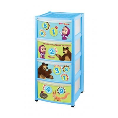 Комод детский Маша и Медведь 4313029 Голубой