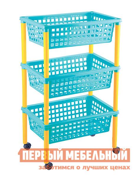 Этажерка Пластишка 4313407 ГолубойЭтажерки<br>Габаритные размеры ВхШхГ 730x420x290 мм. Практичная пластиковая этажерка с тремя корзинами понравится как взрослым, так и детям.  В ней удобно хранить детские игрушки и вещи.  Этажерку можно использовать как игровой элемент, чтобы научить малыша самому наводить порядок в комнате.  Модель имеет компактные размеры и оборудована колесиками, что делает ее многофункциональной и мобильной. Изготавливается из полипропилена.<br><br>Цвет: Голубой<br>Цвет: Синий<br>Высота мм: 730<br>Ширина мм: 420<br>Глубина мм: 290<br>Кол-во упаковок: 1<br>Форма поставки: В разобранном виде<br>Срок гарантии: 1 год<br>Тип: Прямые<br>Материал: Пластиковые