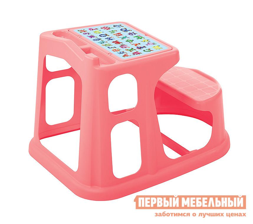 Парта Пластишка 431377112 КоралловыйПарты<br>Габаритные размеры ВхШхГ 500x550x730 мм. Необычная яркая парта для малышей дошкольного возраста, выполненная из экологического чистых материалов — это идеальное дополнение в детскую комнату.  Модель имеет устойчивое единое основание, а абсолютное отсутствие углов делает ее безопасной даже во время активных игр.  За такой партой ребенку будет удобно, а главное интересно играть, творить и учиться.  На поверхности столешницы предусмотрены открытые кармашки для ручек и карандашей, а под крышкой есть ниша для красок, наклеек и детских секретов.  Продуманная столешница поможет родителям в игровой форме научить малыша самому наводить порядок в своих вещах. Размеры парты (ВхШхГ): 500 х 550 х 730 мм. Изготавливается из полипропилена. Обратите внимание, что изображение на наклейке может отличаться от представленной фотографии.  Производитель предлагает вариант с алфавитом или с цифрами, но, к сожалению, заказать конкретный рисунок нельзя.<br><br>Цвет: Красный<br>Высота мм: 500<br>Ширина мм: 550<br>Глубина мм: 730<br>Кол-во упаковок: 1<br>Форма поставки: В собранном виде<br>Срок гарантии: 1 год<br>Тип: Одноместные<br>Назначение: Для дома<br>Назначение: Для дошкольников<br>Назначение: Детские<br>Материал: Пластик<br>Со стулом: Да<br>Рост ребенка: Рост 115-130 см<br>Рост ребенка: Рост менее 115 см<br>Пол: Для девочек