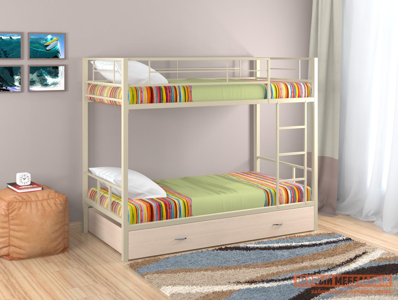 Кровать Redford Севилья - 2 с ящиком Бежевый / Молочный дуб