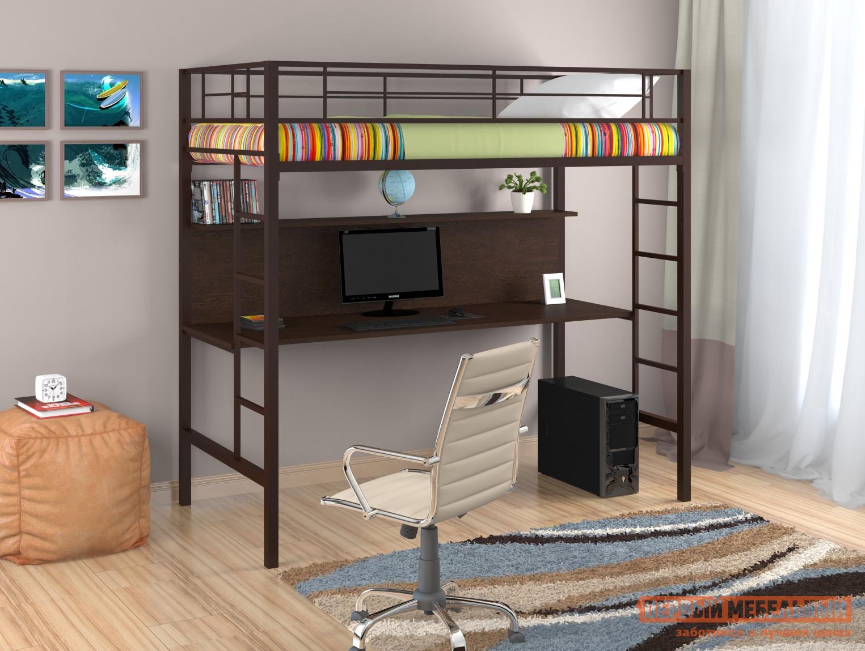 Металлическая кровать-чердак с письменным столом Redford Севилья-1 кровать чердак первый мебельный ника 427 т кровать чердак со столом
