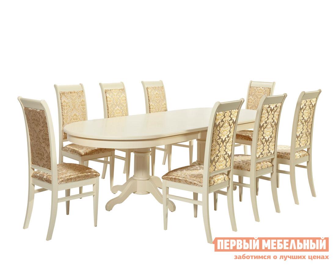 Обеденная группа для столовой Mebwill Стол-0607+Ита-М обеденная группа для столовой и гостиной mebwill emperor ry t10ex2lb 8 cr sc3 walnut