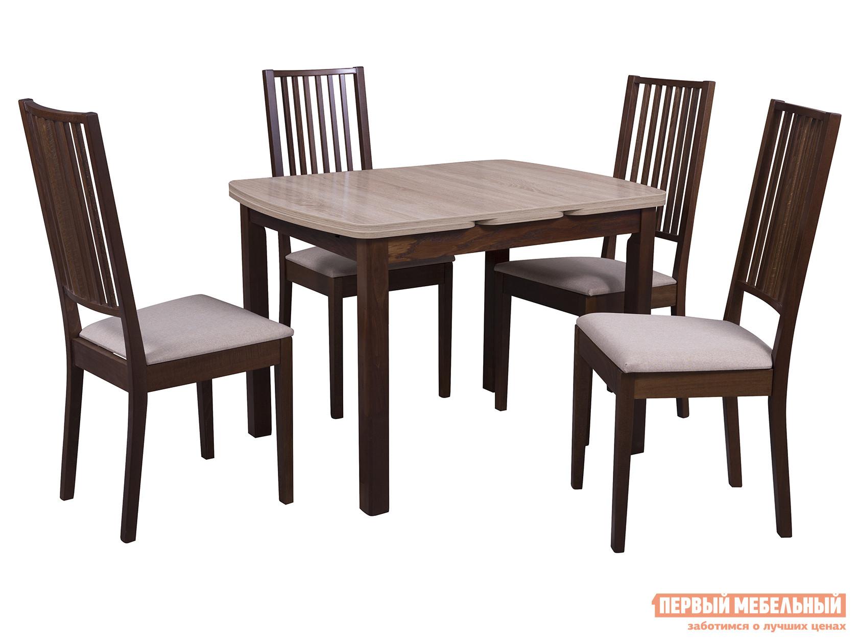 Обеденная группа для столовой и гостиной Mebwill Стол Орлеан + 4 стула Родос цена 2017