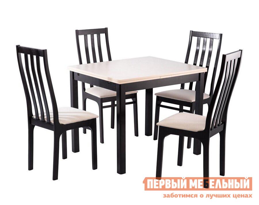 Обеденная группа для столовой и гостиной Mebwill Стол Франц СТ01 + 4 стула Франц С36 цена 2017