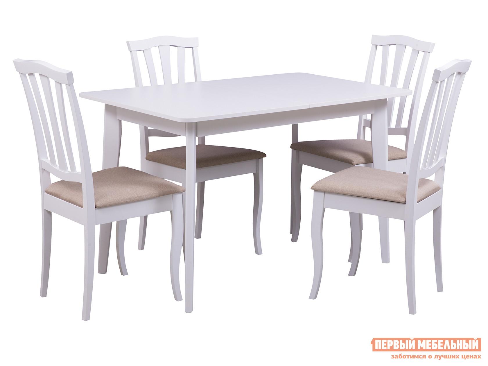 Обеденная группа для столовой и гостиной Mebwill Стол Йорк + 4 стула Сити джинсы tom tailor denim 6255002 09 12 1054