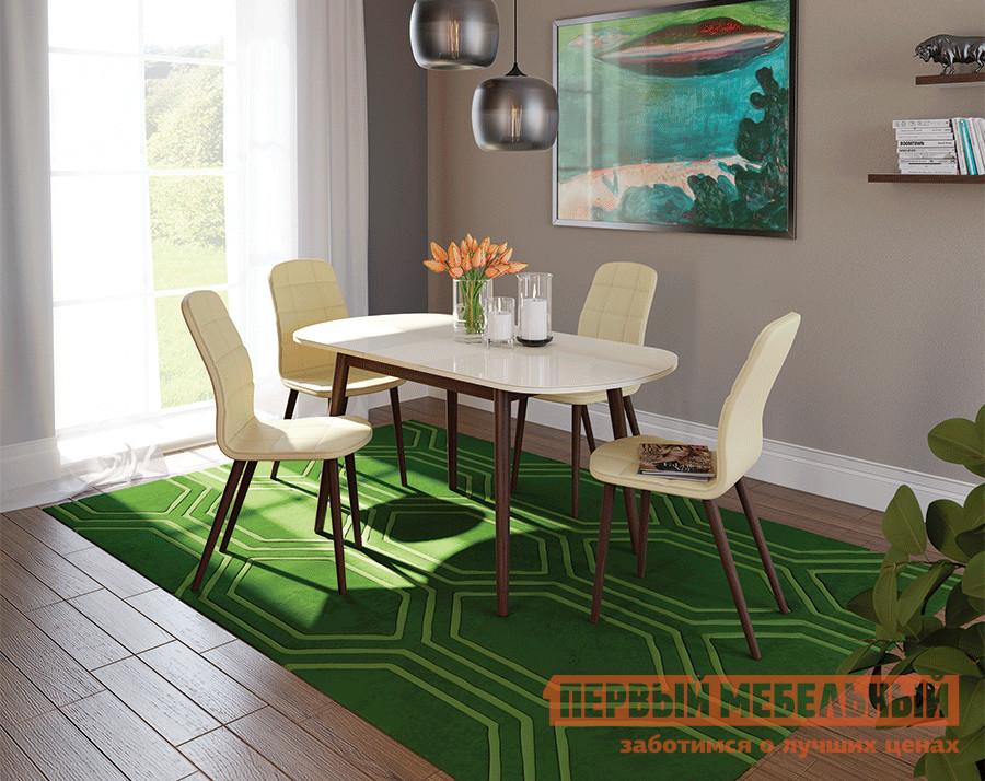 Обеденная группа для столовой и гостиной Mebwill Стол Бейз 110 + 4 стула Бейз набор greenell стол 4 стула ftfs 1 зеленый