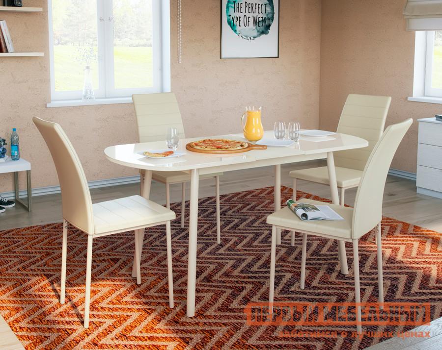 Обеденная группа для столовой и гостиной Mebwill Стол Раунд + 4 стула Винс