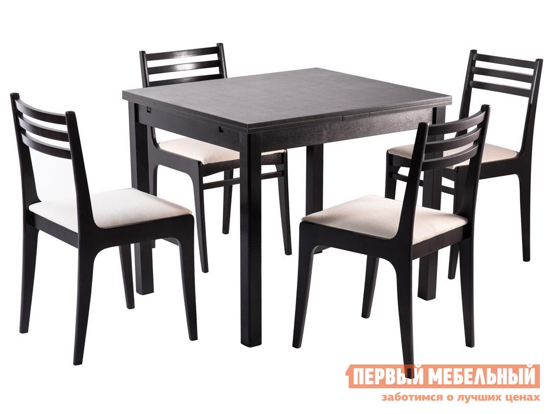 Обеденная группа для столовой и гостиной Mebwill Стол Франц СТ01 + 4 стула Грис С8