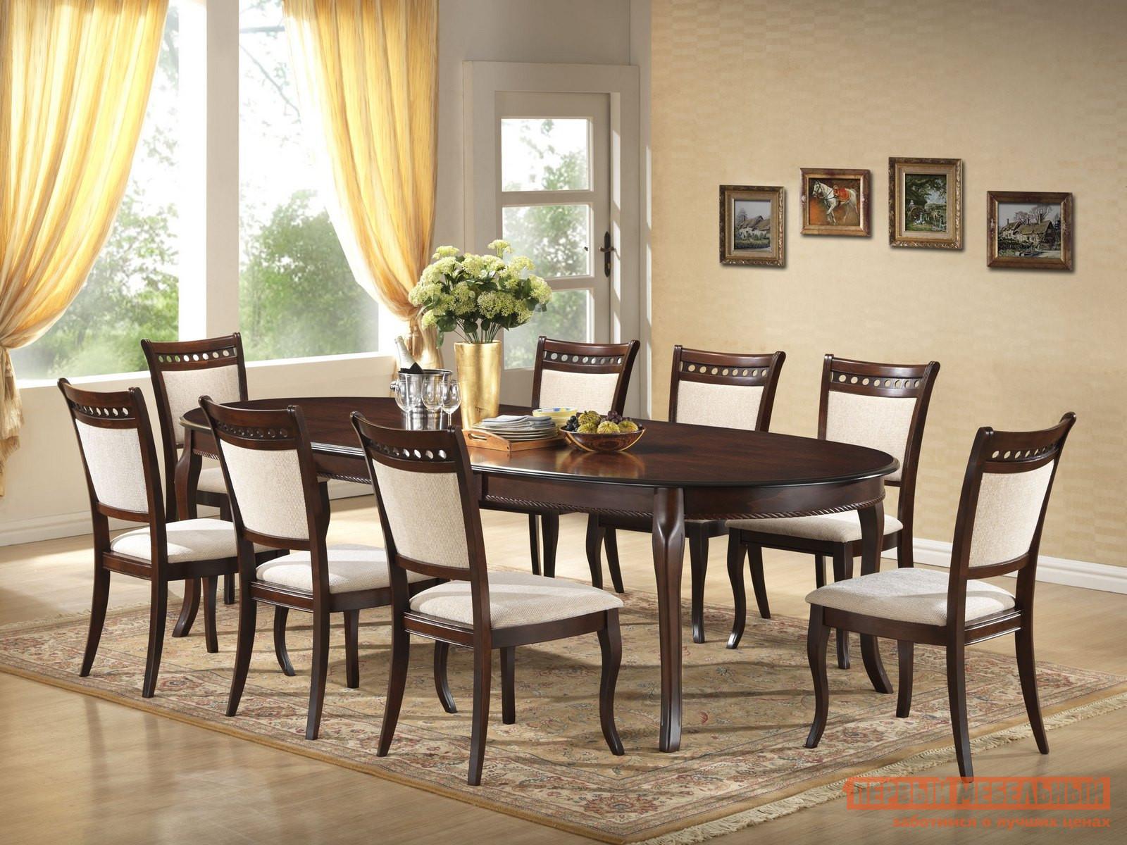 Обеденная группа для столовой и гостиной Mebwill Emperor RY-T10EX2LB + 8 CR-SC3 Walnut
