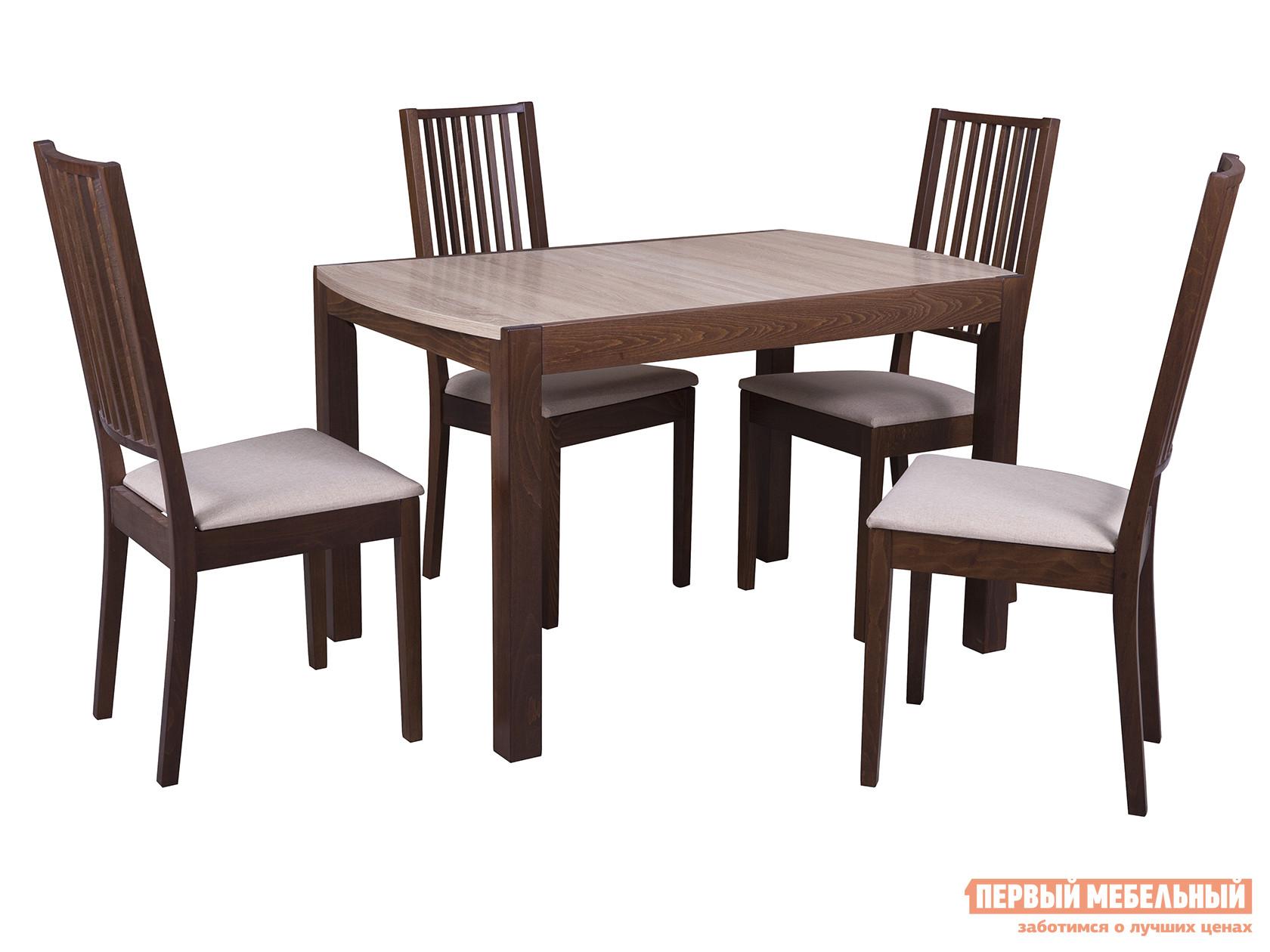 Обеденная группа для столовой и гостиной Mebwill Стол Рига ЛДСП + 4 стула Родос цена 2017