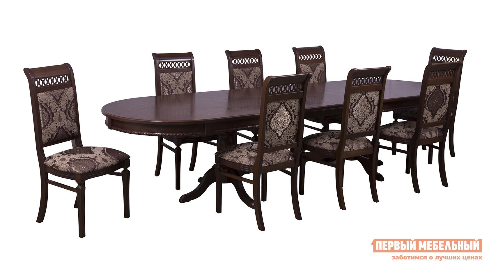 Обеденная группа для столовой и гостиной Mebwill Стол Верона + 8 стульев Флоренция 1