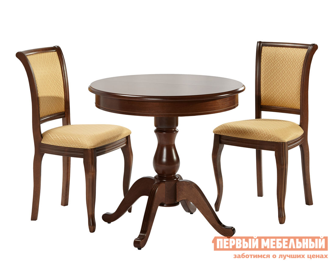 Обеденная группа для столовой и гостиной Mebwill Стол Фабрицио-1+Кабриоль-16, 4 шт.