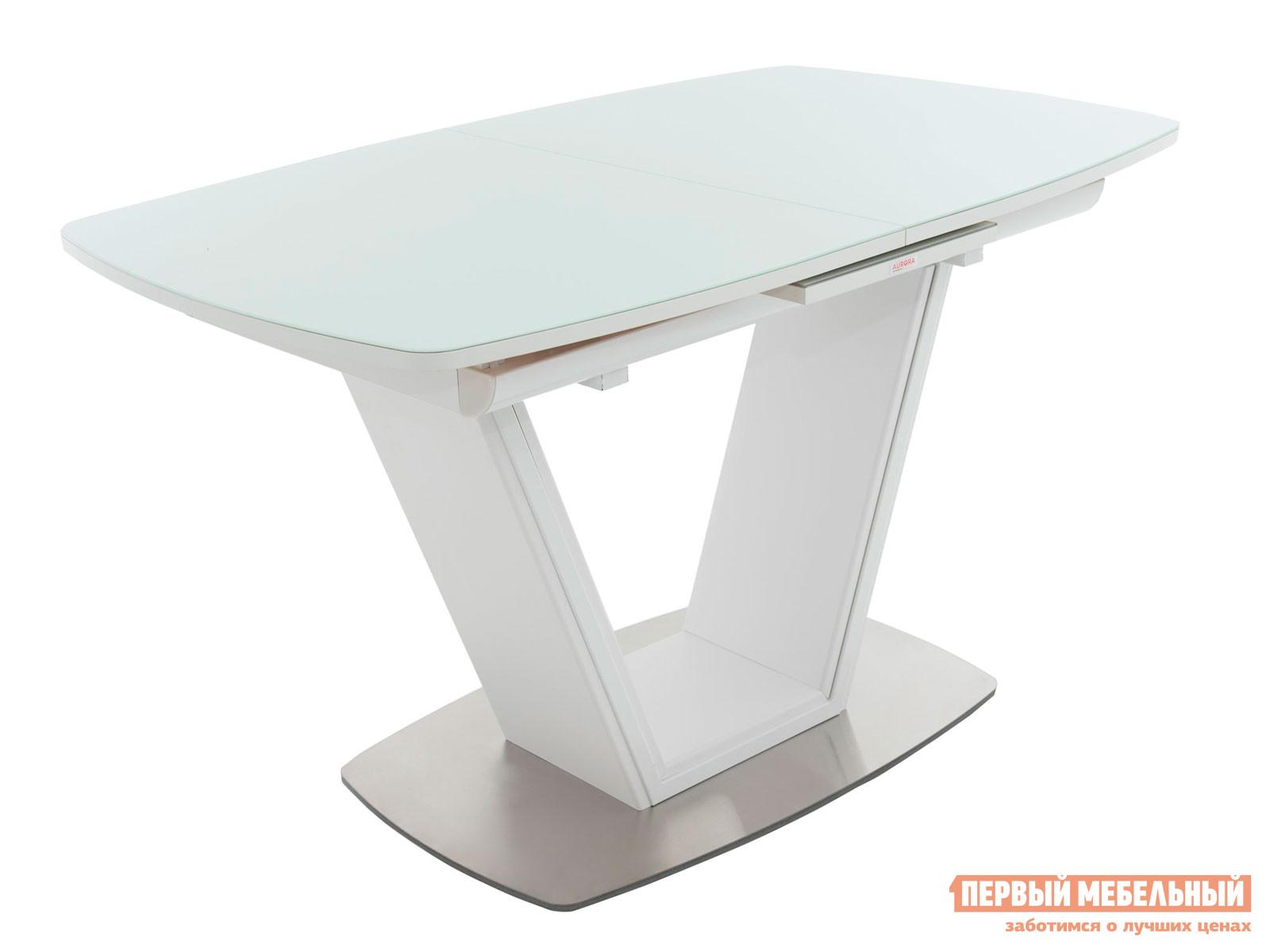 Кухонный стол  Севилья Белый / Стекло белое Мебвилл 118620