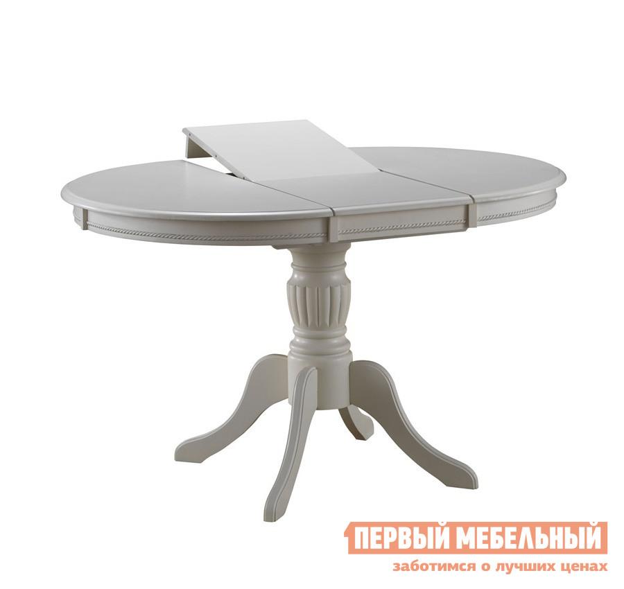 Обеденный стол Mebwill Olivia OL-T4EX Butter WhiteОбеденные столы<br>Габаритные размеры ВхШхГ 750x1060 / 1410x1060 мм. Элегантный обеденный стол — прекрасное дополнение интерьера столовой или гостиной зоны.  Кроме того, это необходимый функциональный предмет мебели.  Округлая форма и фундаментальная основа, несомненно, привлечет к себе внимание. Стол можно разложить за счет внутренней вставки размером 350 мм.  В сложенном состоянии вставка убирается внутрь столешницы.   Размер стола:В собранном виде (ШхГ): 1060 х 1060 мм;В разложенном виде (ШхГ): 1410 х 1060 мм. Стол изготавливается из массива гевеи.<br><br>Цвет: Белый<br>Цвет: Светлое дерево<br>Высота мм: 750<br>Ширина мм: 1060 / 1410<br>Глубина мм: 1060<br>Кол-во упаковок: 2<br>Форма поставки: В разобранном виде<br>Срок гарантии: 1 год<br>Тип: Раздвижные<br>Тип: Трансформер<br>Материал: Дерево<br>Материал: Натуральное дерево<br>Порода дерева: Гевея<br>Форма: Овальные<br>Размер: Большие<br>С одной ножкой: Да