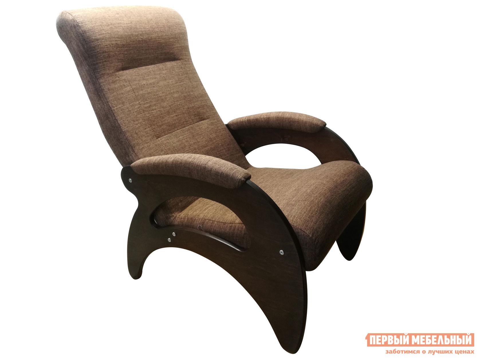 Кресло  Мария Темно-коричневый, рогожка / Темный орех Мебвилл 110513