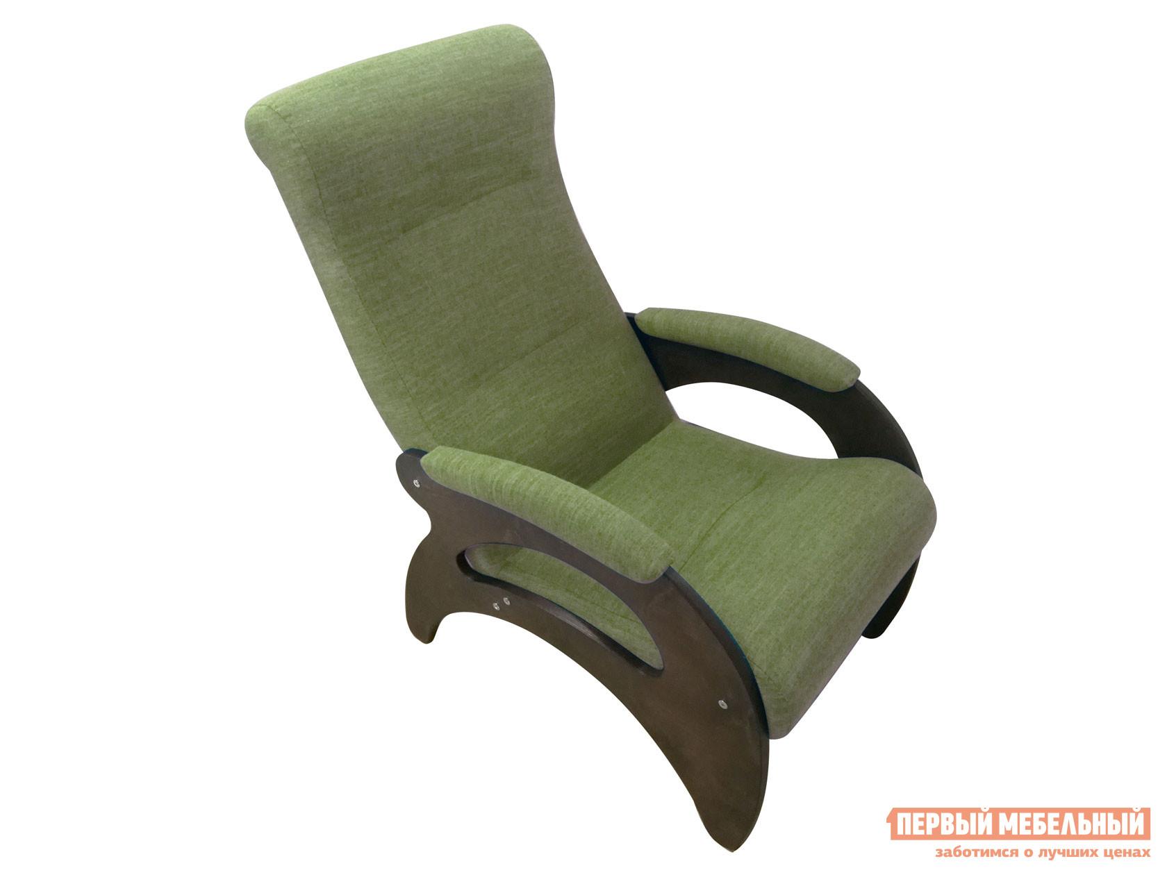 Кресло  Мария Темный орех / Оливковый, рогожка Мебвилл 127323