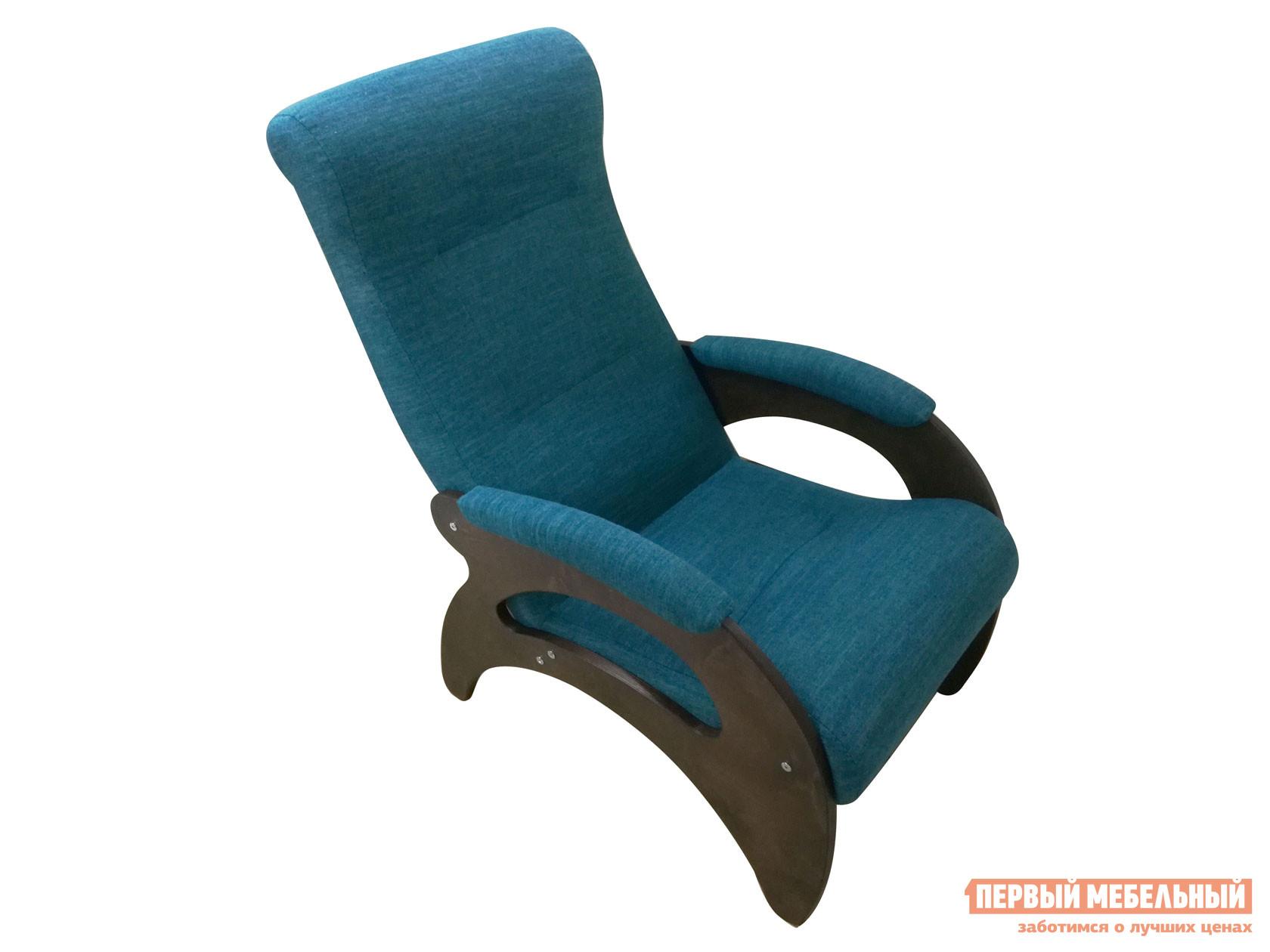 Кресло  Мария Темный орех / Бирюзовый, рогожка Мебвилл 127322