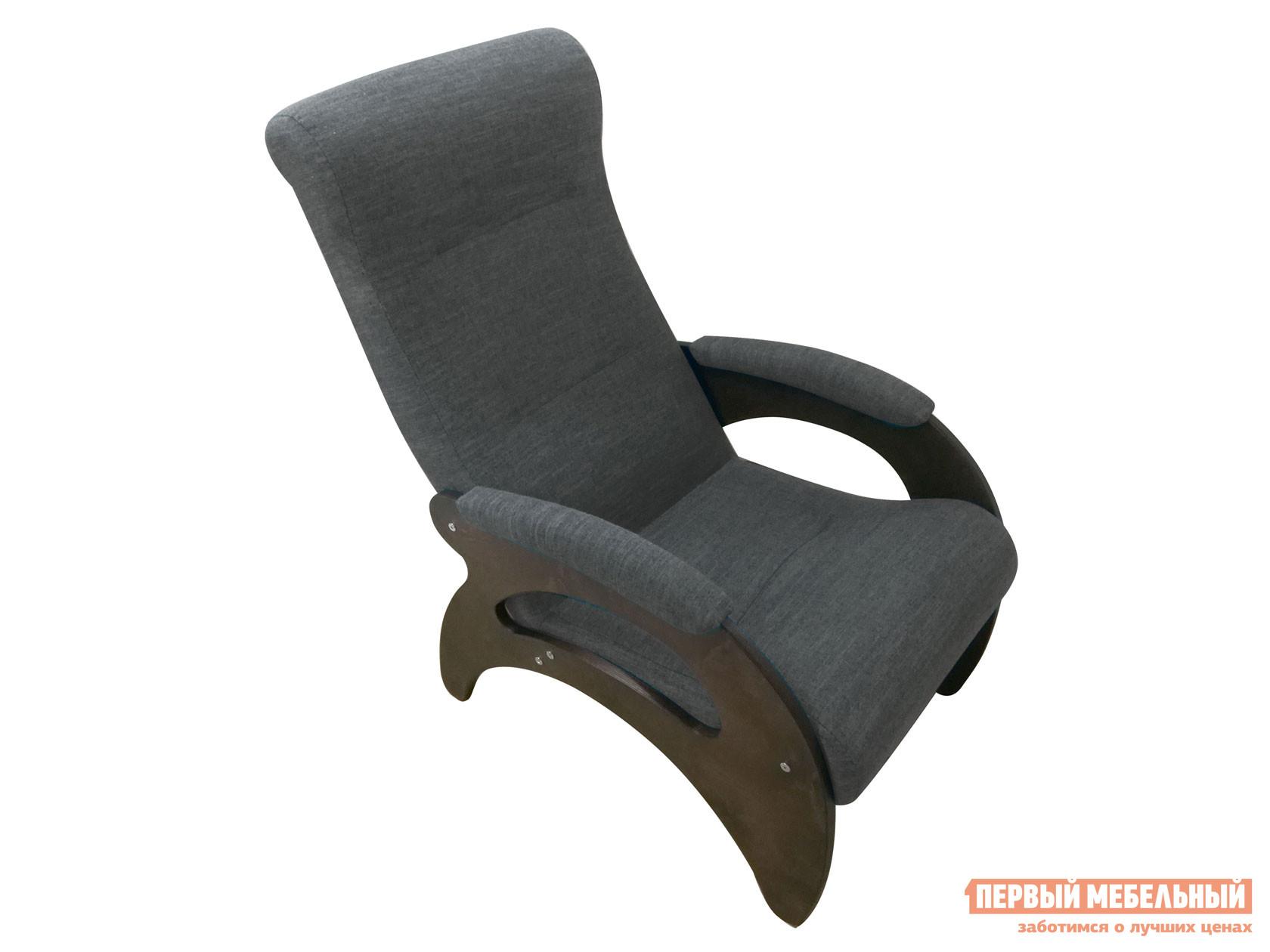 Кресло  Мария Графит, рогожка / Темный орех Мебвилл 127326