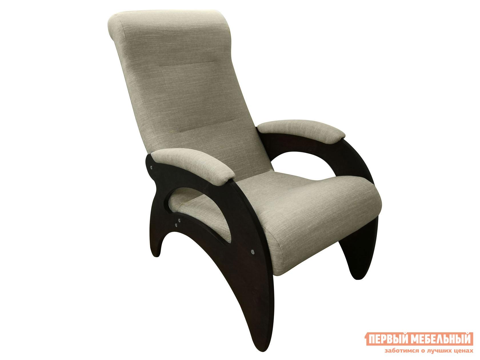Кресло  Мария Темный орех / Серебристый, рогожка Мебвилл 127327