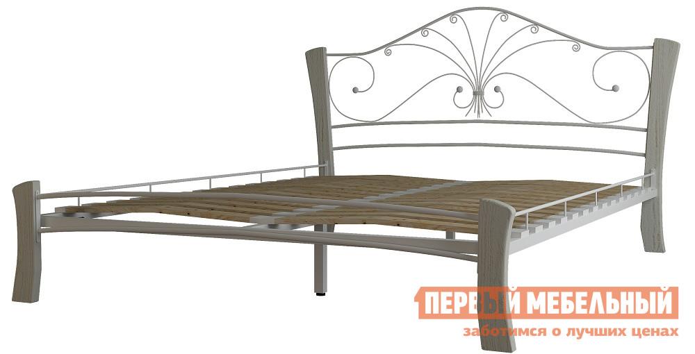Кровать Mebwill Кровать Фортуна 4 ЛАЙТ Белый / Белый, Спальное место 1600 X 2000 мм