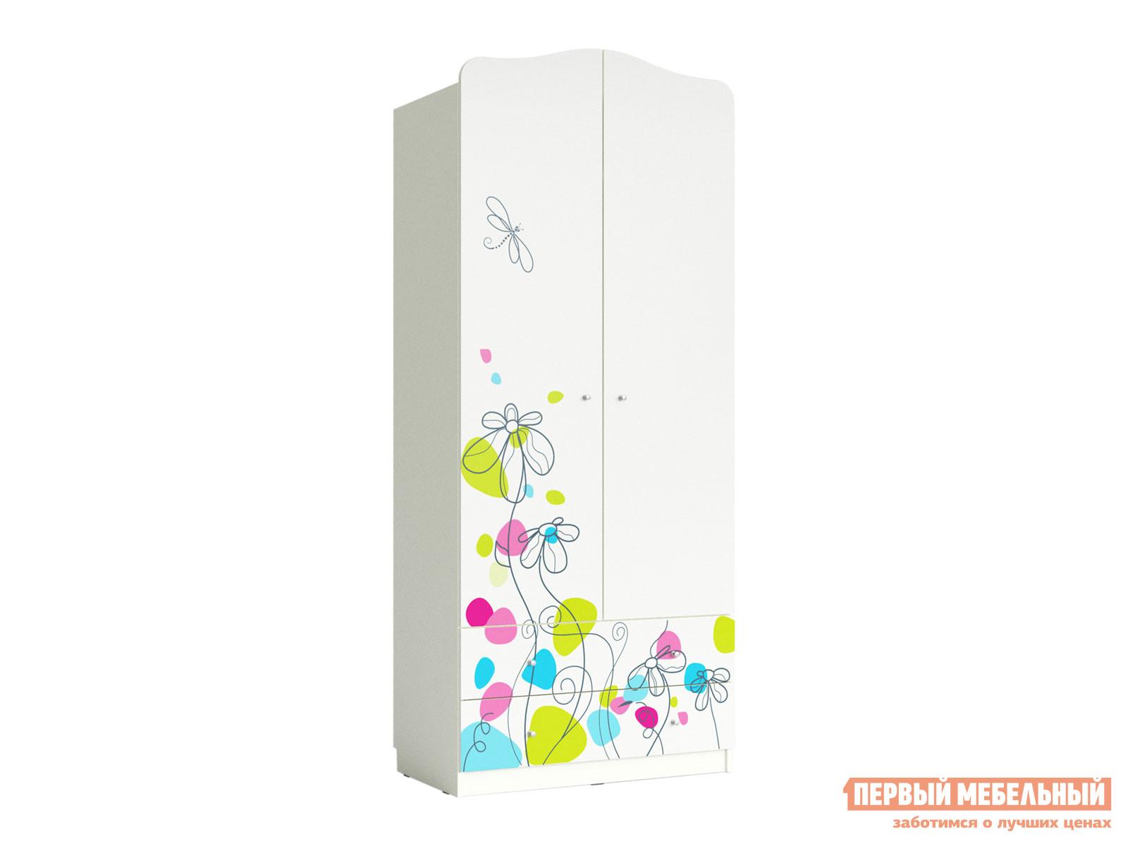 Детский распашной шкаф Mebwill Шкаф Цветы