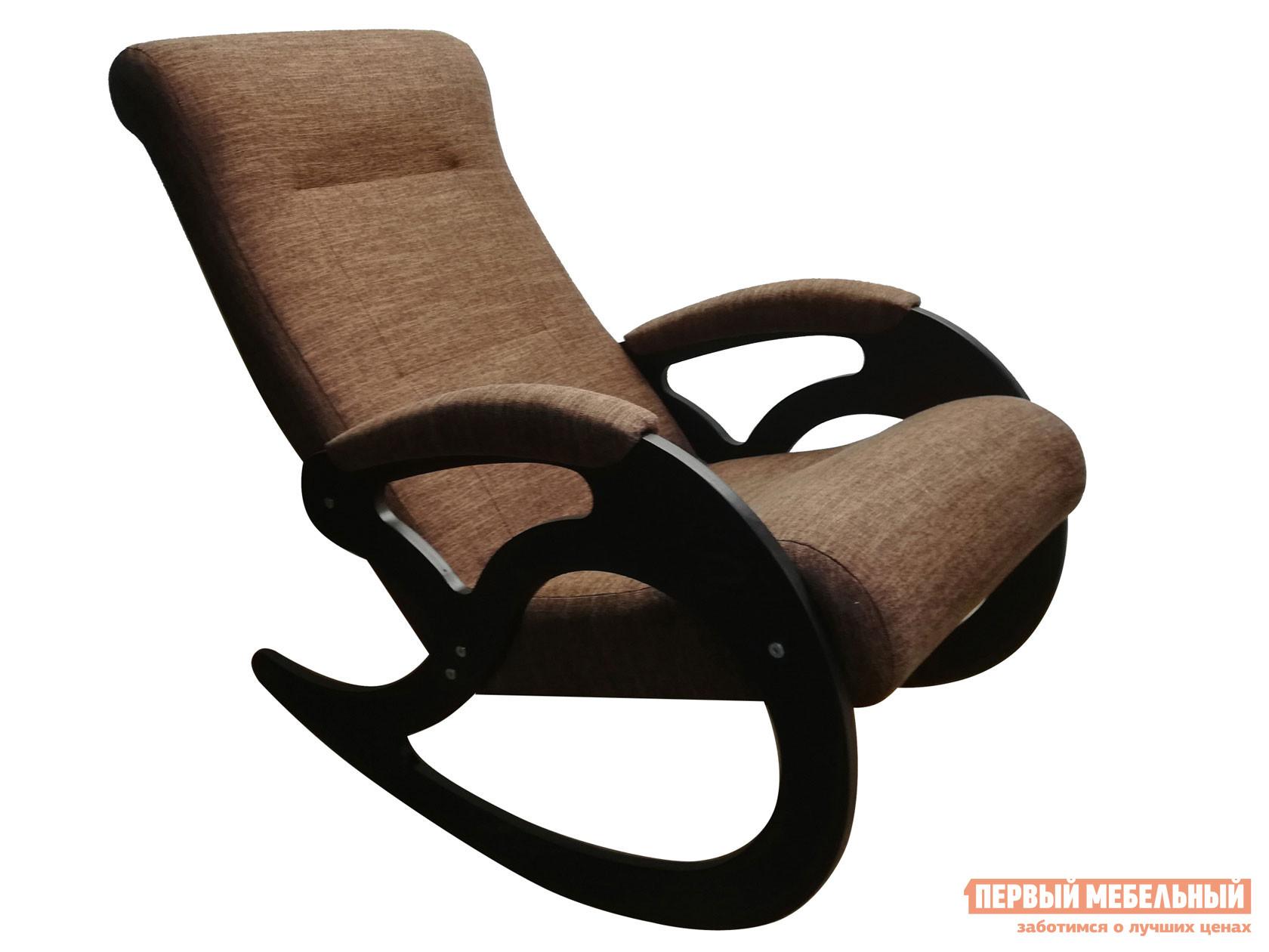 Кресло-качалка  Венера Темно-коричневый, рогожка / Темный орех Мебвилл 110509
