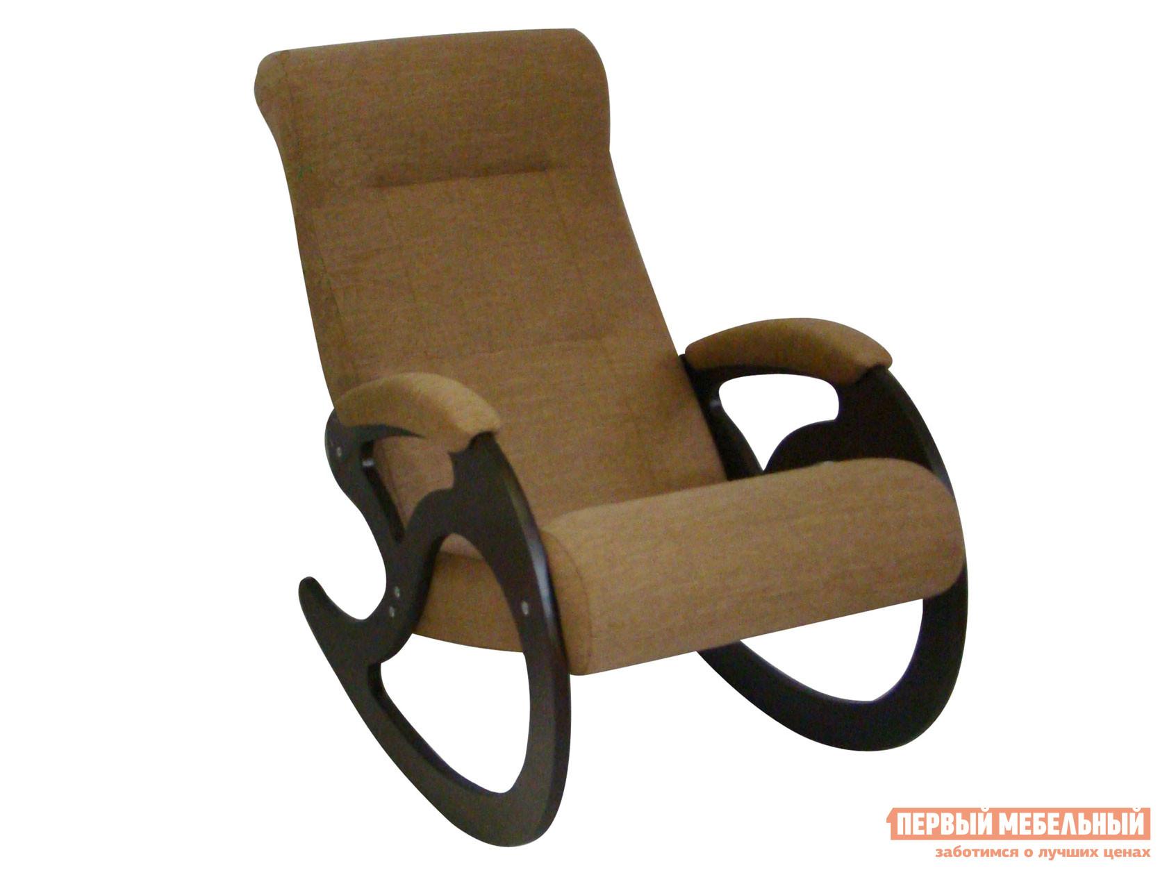 Кресло-качалка  Венера Светло-коричневый, рогожка / Темный орех Мебвилл 110508