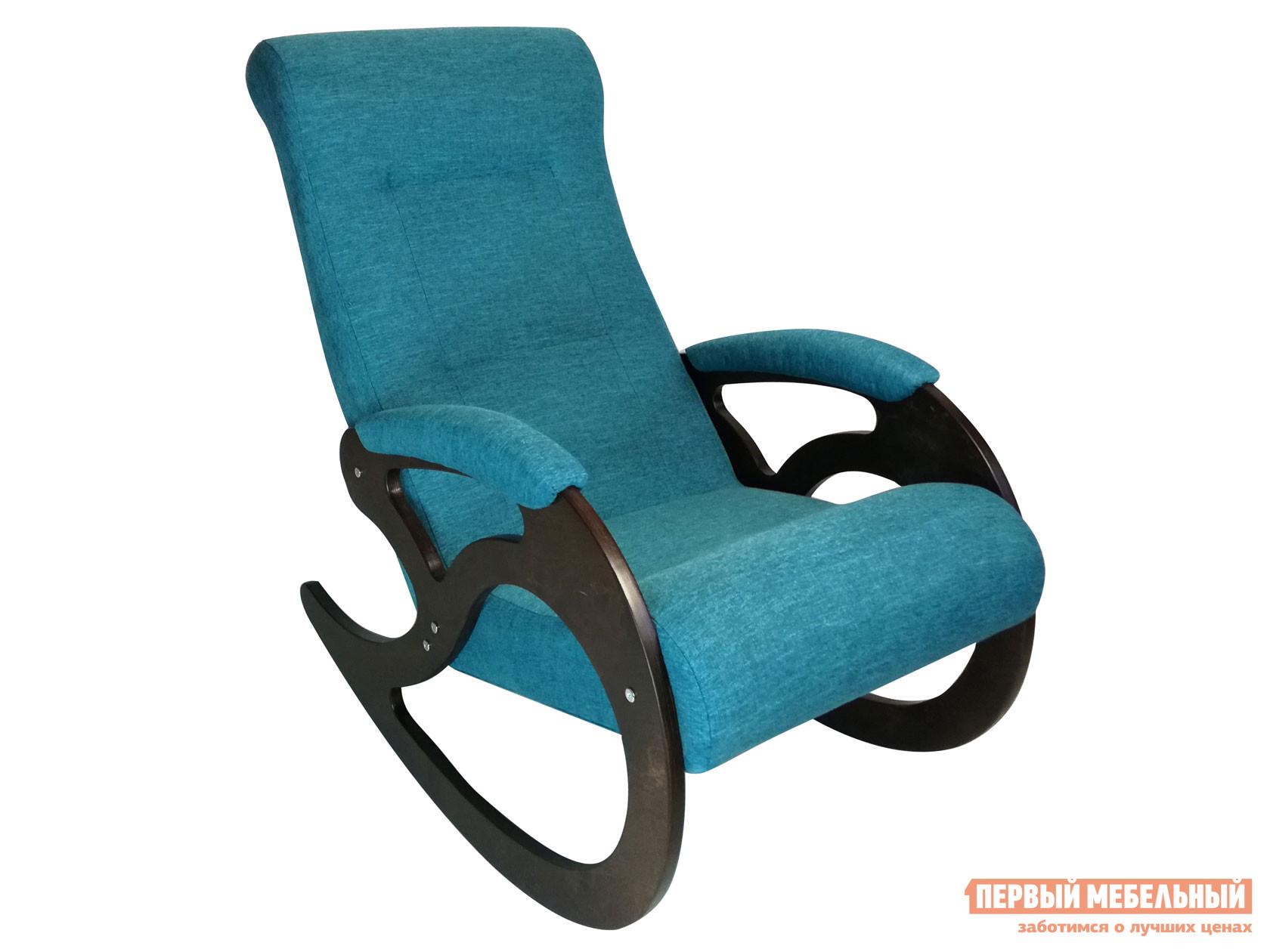 Кресло-качалка  Кресло качалка Венера Темный орех / Бирюзовый, рогожка Мебвилл 127328