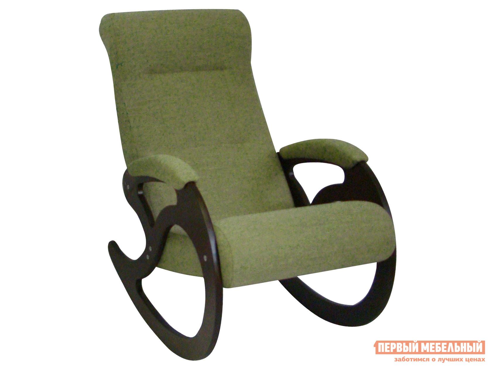 Кресло-качалка  Кресло качалка Венера Темный орех / Оливковый, рогожка Мебвилл 127330