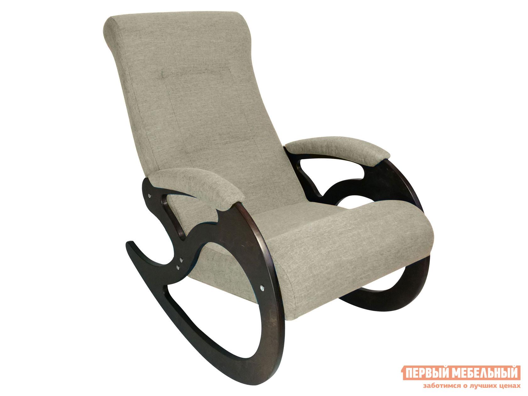 Кресло-качалка  Венера Серебристый, рогожка / Темный орех Мебвилл 127331