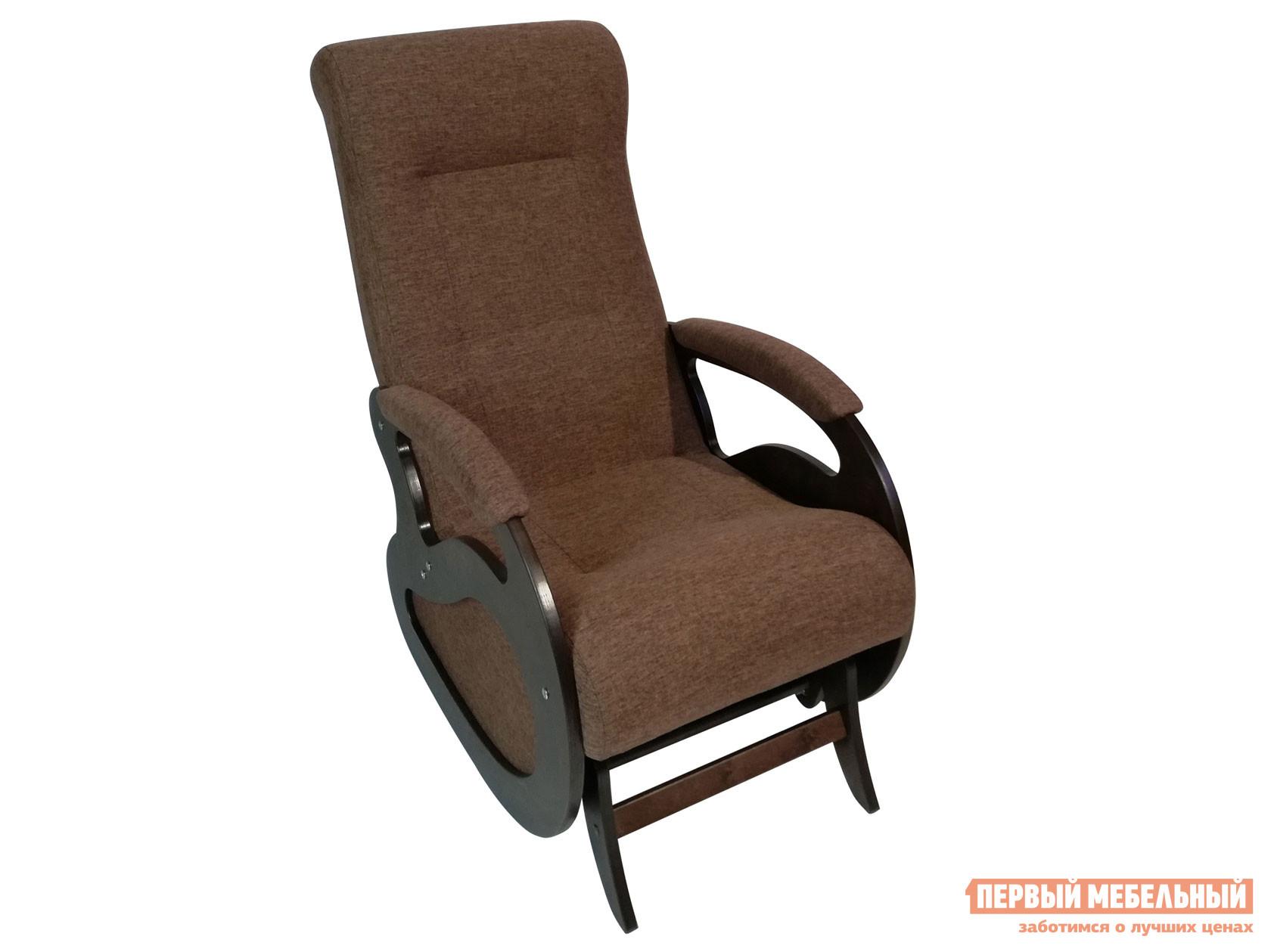 Кресло-качалка  Кресло качалка Маятник Темно-коричневый, рогожка / Темный орех Мебвилл 110500