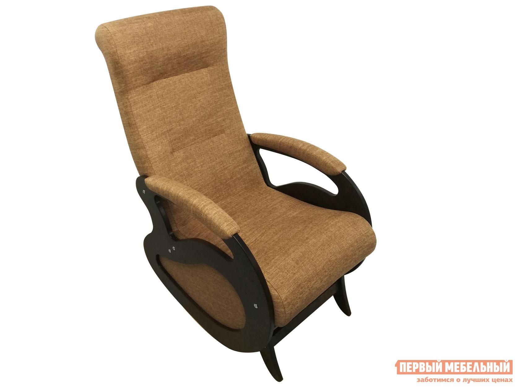 Кресло-качалка  Маятник Светло-коричневый, рогожка / Темный орех Мебвилл 110499