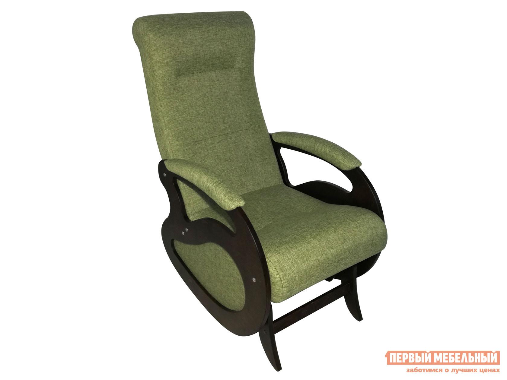 Кресло-качалка  Кресло качалка Маятник Темный орех / Оливковый, рогожка Мебвилл 127317