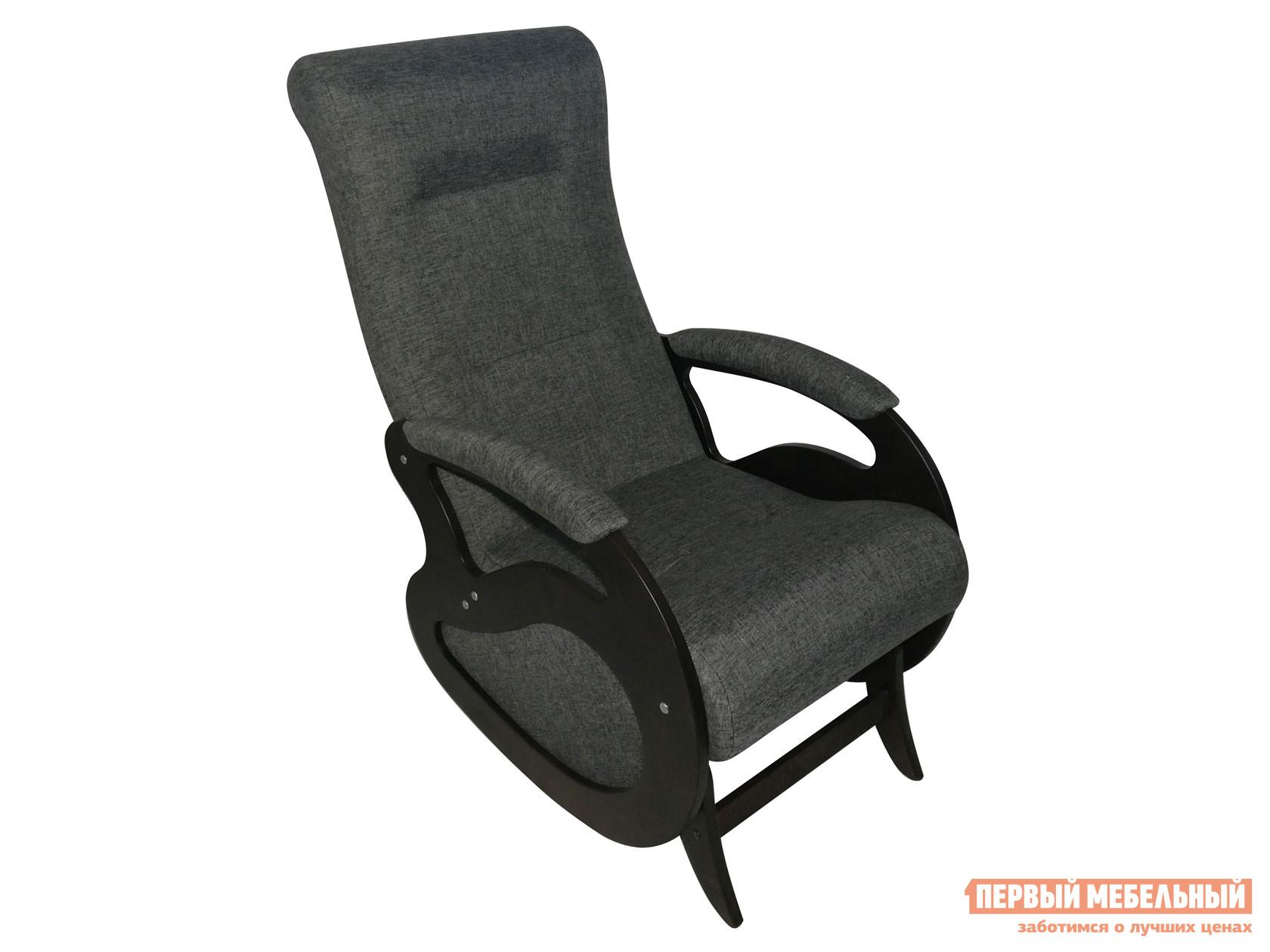 Кресло-качалка  Кресло качалка Маятник Темный орех / Графит, рогожка Мебвилл 127320