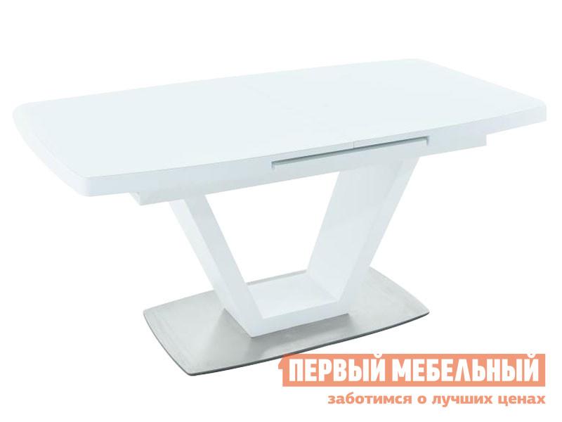 Кухонный стол  Фоджа Белый / Стекло Opti матте, Малый Мебвилл 127378
