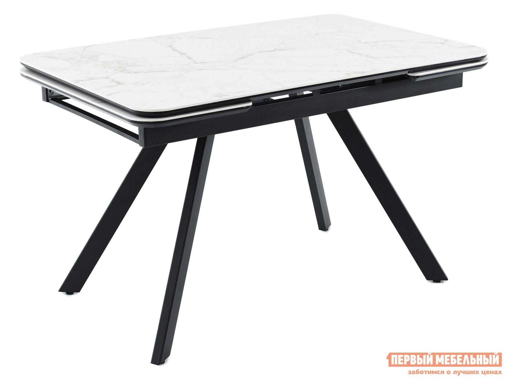 Кухонный стол  Леон Calacata vagli / Черный, металл Мебвилл 126812