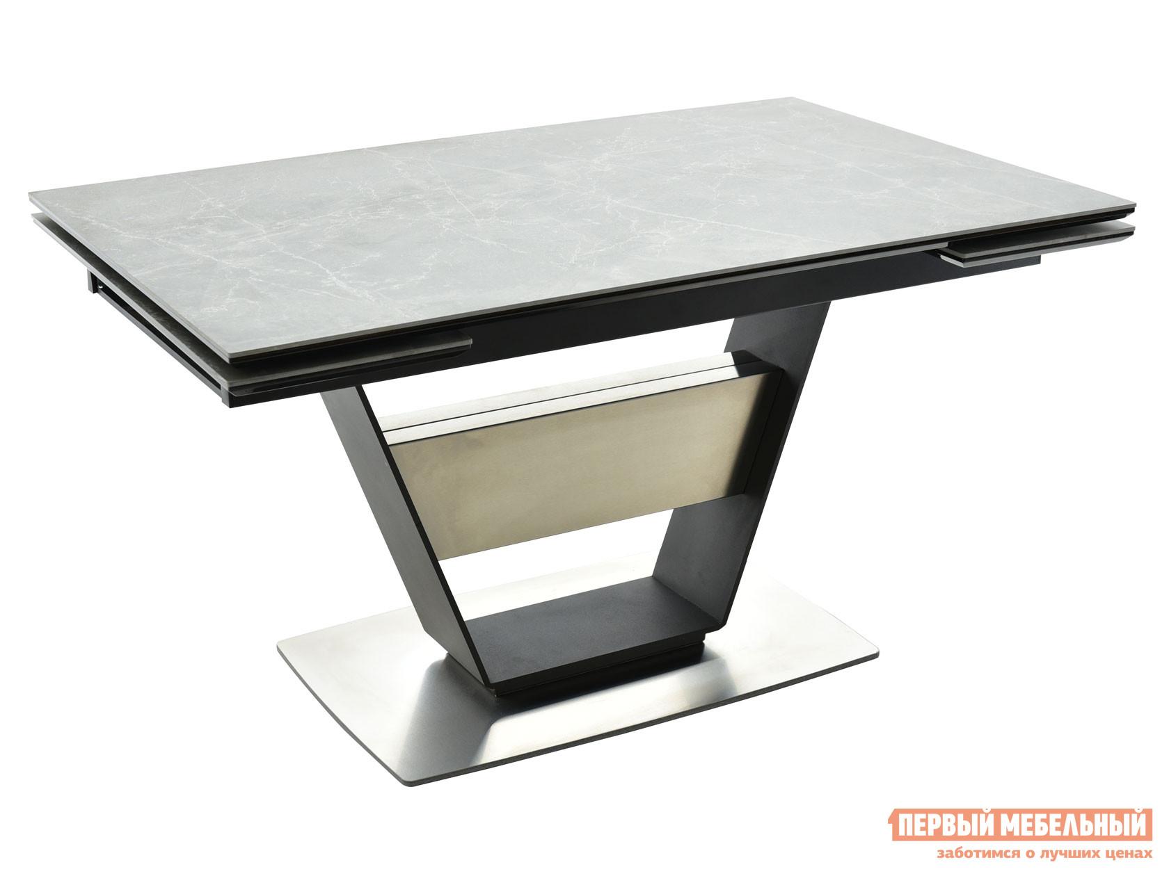 Кухонный стол  Мальта Bayona grey / Черный, металл Мебвилл 127370